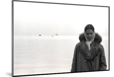 Carol Hall at Seattle's Fisherman's Wharf on a Misty Morning, Puget Sound, Seattle, Washington-Allan Grant-Mounted Photographic Print