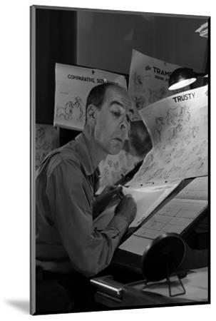 "Disney Animator-Artists Work on Sketches for ""Lady and the Tramp"", Burbank, California, 1953-Alfred Eisenstaedt-Mounted Photographic Print"