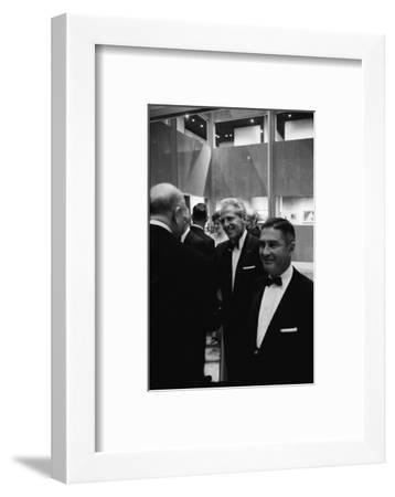 Architect William Pereira and Museum Director Richard Brown at Opening of the La Museum of Art-Ralph Crane-Framed Photographic Print