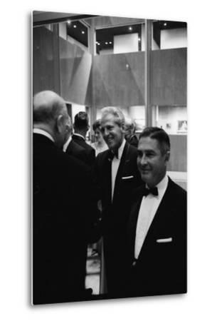 Architect William Pereira and Museum Director Richard Brown at Opening of the La Museum of Art-Ralph Crane-Metal Print