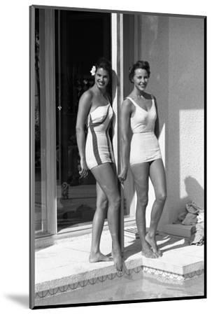 Celia Kyllingstad (R) and Carol Hall (L), at a Private Pool, Seattle, Washington, 1960-Allan Grant-Mounted Photographic Print