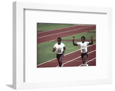 Winners of the 400-Meter Relay Race at the 1972 Summer Olympic Games in Munich, Germany-John Dominis-Framed Photographic Print