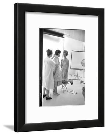 "Unidentified Model Shoot. Part of Allan Grant's Series ""The Golden Girls of the West"", 1960-Allan Grant-Framed Photographic Print"