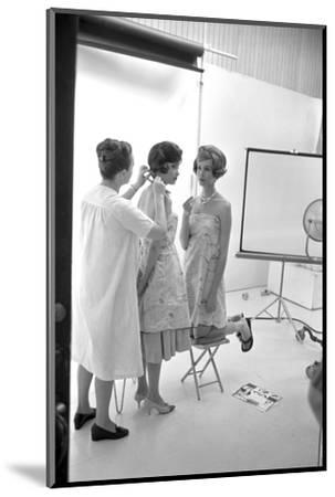 "Unidentified Model Shoot. Part of Allan Grant's Series ""The Golden Girls of the West"", 1960-Allan Grant-Mounted Photographic Print"