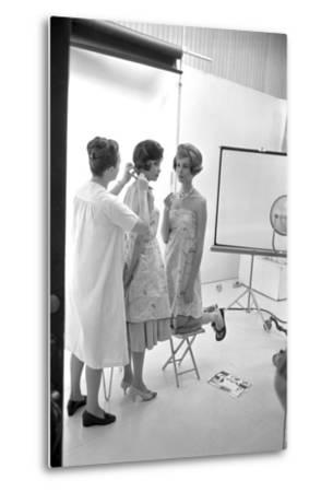 "Unidentified Model Shoot. Part of Allan Grant's Series ""The Golden Girls of the West"", 1960-Allan Grant-Metal Print"