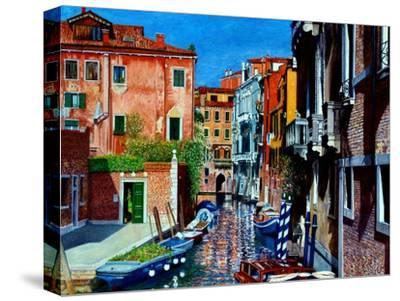 Venice Canal, Dorsoduro, August 2016-Anthony Butera-Stretched Canvas Print