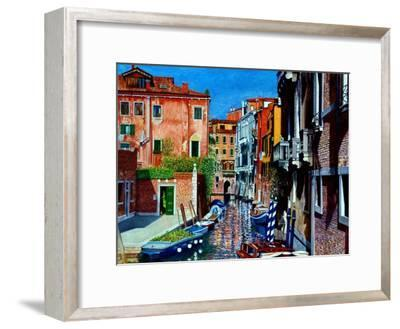 Venice Canal, Dorsoduro, August 2016-Anthony Butera-Framed Giclee Print