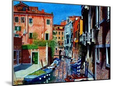 Venice Canal, Dorsoduro, August 2016-Anthony Butera-Mounted Giclee Print