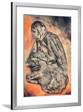Servant in the Manger (Morning), 2016-Joy Lions-Framed Giclee Print