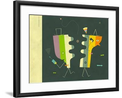 Disconnected-Jazzberry Blue-Framed Art Print