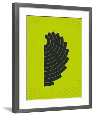 Curves-Jazzberry Blue-Framed Art Print