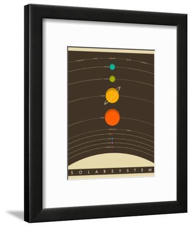 Solar System-Jazzberry Blue-Framed Art Print