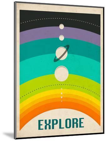 Solar System-Jazzberry Blue-Mounted Art Print