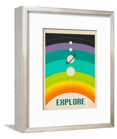 Solar System-Jazzberry Blue-Framed Premium Giclee Print