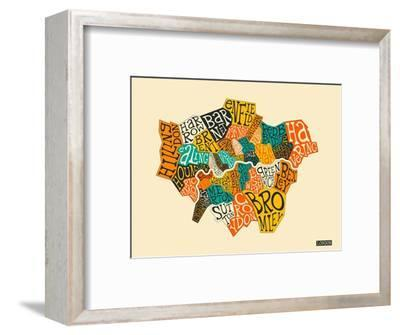 London Boroughs-Jazzberry Blue-Framed Art Print
