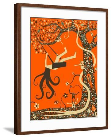Outcast-Jazzberry Blue-Framed Art Print