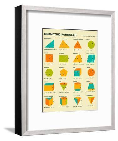 Geometric Formulas-Jazzberry Blue-Framed Art Print