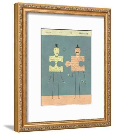 Perfect Strangers-Jazzberry Blue-Framed Art Print