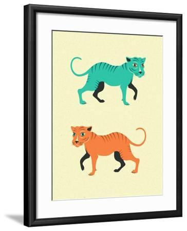 Wildcats-Jazzberry Blue-Framed Art Print