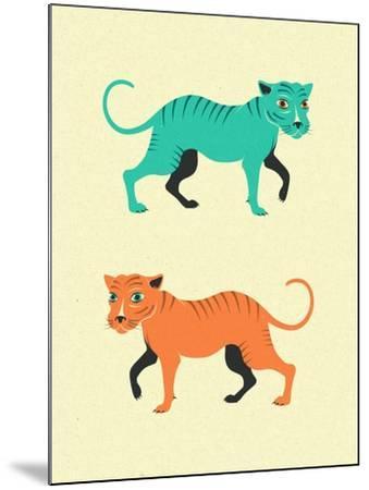 Wildcats-Jazzberry Blue-Mounted Art Print