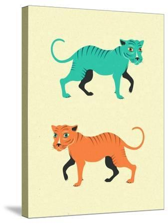 Wildcats-Jazzberry Blue-Stretched Canvas Print