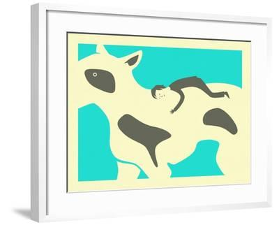 You Were Mine Forever-Jazzberry Blue-Framed Art Print