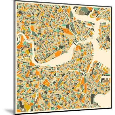 Boston Map Art Print By Jazzberry Blue Art Com