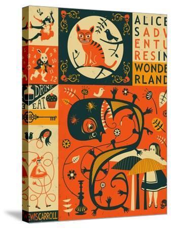 Alice in Wonderland-Jazzberry Blue-Stretched Canvas Print