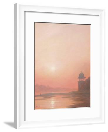Evening on the Yamuna-Derek Hare-Framed Giclee Print