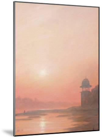 Evening on the Yamuna-Derek Hare-Mounted Giclee Print