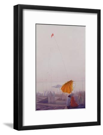 Early Morning, Varanasi-Derek Hare-Framed Giclee Print