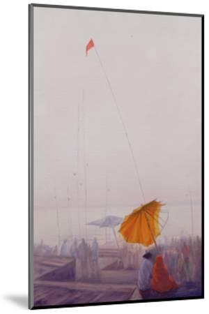 Early Morning, Varanasi-Derek Hare-Mounted Giclee Print