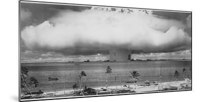 Underwater Atomic Bomb Test at Bikini Atoll in 1946-U^S^ Gov'T Navy-Mounted Photographic Print
