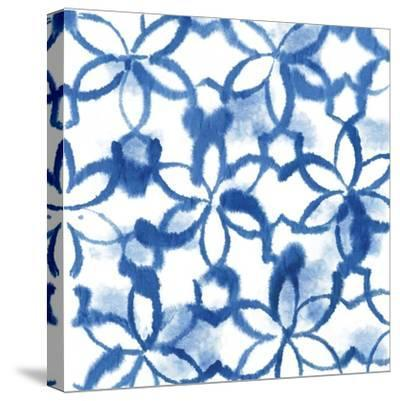 Indigo Floral-Aimee Wilson-Stretched Canvas Print