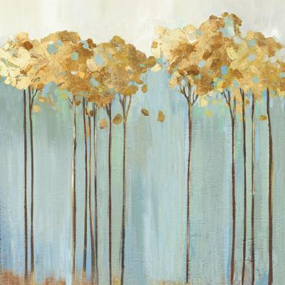Teal Trees II-Allison Pearce-Framed Art Print