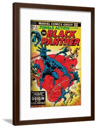 Marvel Comics Retro Style Guide: Black Panther--Framed Art Print