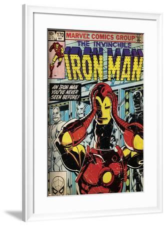 Marvel Comics Retro Style Guide: Iron Man--Framed Art Print