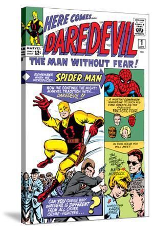 Daredevil No.1 Cover: Daredevil-Joe Quesada-Stretched Canvas Print