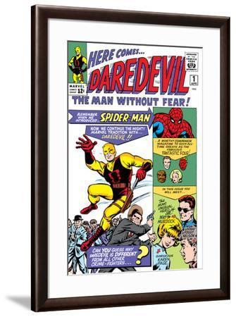 Daredevil No.1 Cover: Daredevil-Joe Quesada-Framed Art Print