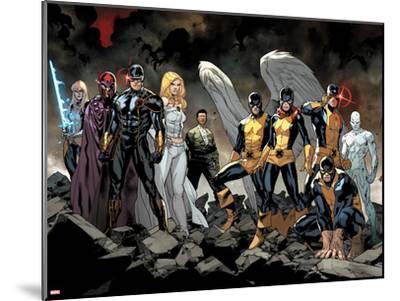 All-New X-Men No. 1: Beast, Grey, Jean, Cyclops, Iceman, Angel, Magneto, Magik, Frost, Emma--Mounted Art Print