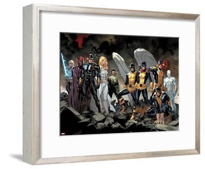 All-New X-Men No. 1: Beast, Grey, Jean, Cyclops, Iceman, Angel, Magneto, Magik, Frost, Emma--Framed Art Print