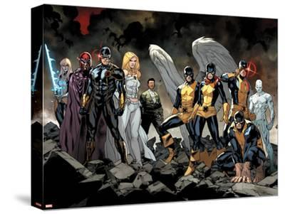 All-New X-Men No. 1: Beast, Grey, Jean, Cyclops, Iceman, Angel, Magneto, Magik, Frost, Emma--Stretched Canvas Print