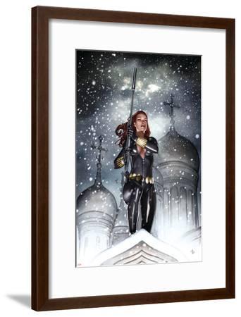 Black Widow: Deadly Origins No.2 Cover: Black Widow-Adi Granov-Framed Art Print