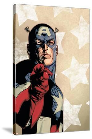 New Avengers No.61 Cover: Captain America-Stuart Immonen-Stretched Canvas Print