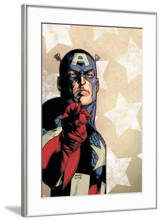 New Avengers No.61 Cover: Captain America-Stuart Immonen-Framed Art Print