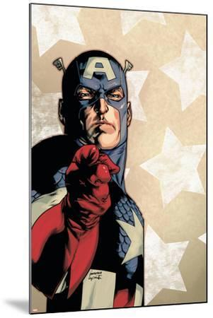 New Avengers No.61 Cover: Captain America-Stuart Immonen-Mounted Art Print