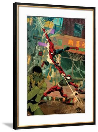 Spider-Man: The Clone Saga No.6 Cover: Spider-Man and Scarlet Spider-Chris Cross-Framed Art Print