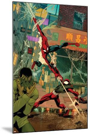 Spider-Man: The Clone Saga No.6 Cover: Spider-Man and Scarlet Spider-Chris Cross-Mounted Art Print
