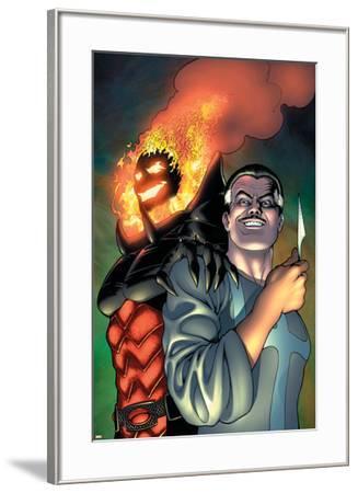 Defenders No.4 Cover: Dr. Strange and Dormammu-Kevin Maguire-Framed Art Print