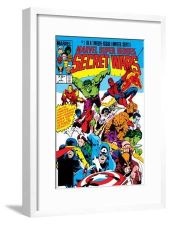 Secret Wars No.1 Cover: Captain America-Mike Zeck-Framed Art Print